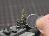1/700 駆逐艦 『島風』 前マスト製作中◆模型製作工房 聖蹟