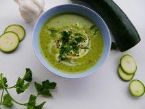 Zucchini-Creme-Suppe; vegetarische Ernährung in der Schwangerschaft