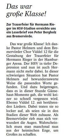 Leserbrief aus der Bremervörder Zeitung vom 05.03.2014