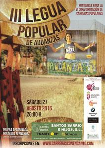 III LEGUA POPULAR DE AUDANZAS DEL VALLE - Audanzas, 27-08-2016