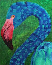 Blue Flamingo 40x50