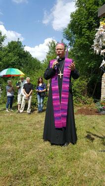6.7.2017: Bischof Dr. Stephan Ackermann (Trier) predigt am Fliegerhorst Büchel gegen Atomwaffen