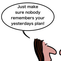 Cartoon - Make sure nobody remember PM plan
