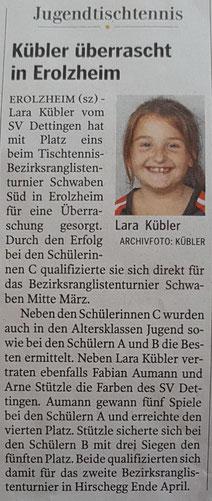 Schwäbische Zeitung vom 06.02.2018