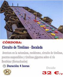 circuito de tirolinas Cordoba