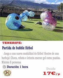 jugar al futbol burbuja en tenerife
