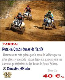 ruta en quads en Tarifa
