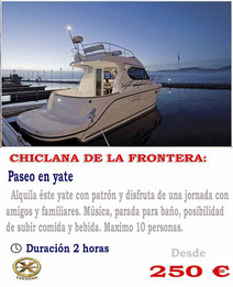 Paseo en barco Cadiz