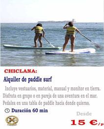 alquiler de paddle en Chiclana de la frontera
