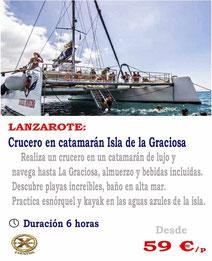 Crucero en catamarán hacia la isla de La Graciosa