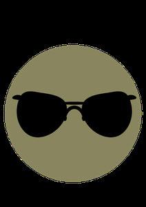 icone lunette noire