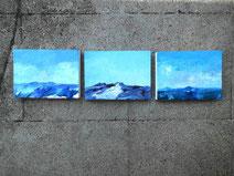 Ansicht hinter den drei bergen