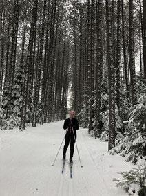 Portrait Ariane Desharnais ski de font hiver au Québec femme sportive conseillère en placements Banque Nationale BNC experte à l'Académie des Autonomes