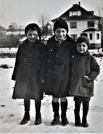 Margot (links) zusammen mit ihren Brüdern Ernst und Helmut (Foto: Privatbesitz Ute Siegeler)