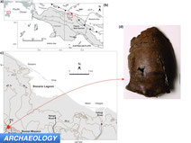 world's first known tsunami victim skull and map