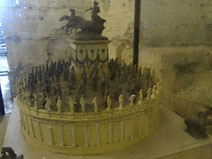Modell des Grabmals für Kaiser Hadrian (heute: Engelsburg)
