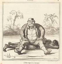 L'ordre règne à la Jamaique - Daumier 1865