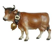 Holzfigur Kuh mit Glocke Nr. 1160
