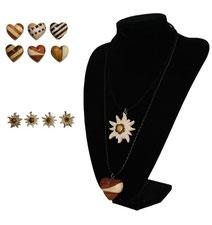 Halskette Edelweiß oder Holzherz