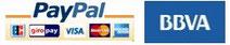 Formas de pago: PayPal y BBVA