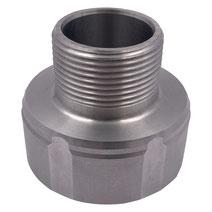 """Adapter für IBC Container 60mm zu 1 1/4"""" AG Aluminium"""