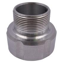 """Adapter für IBC Container 60mm zu 1 1/2"""" AG Aluminium"""