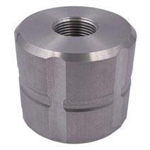 """Adapter für IBC Container 60mm zu 3/4"""" IG Aluminium"""