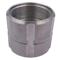 """Adapter für IBC Container 60mm zu 2"""" IG Aluminium"""