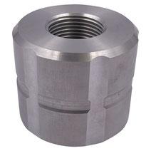 """Adapter für IBC Container 60mm zu 1"""" IG Aluminium"""
