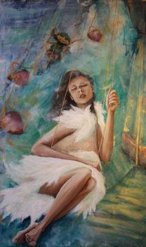 """""""Dream Caroussel"""" - Acryl auf Stoff/Hartfaserplatte 100x120"""