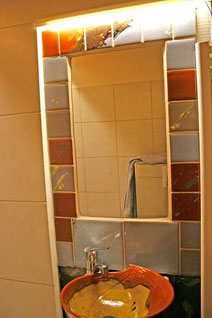 customized tiles and washbasin