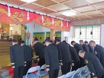 社殿での安全祈願祭