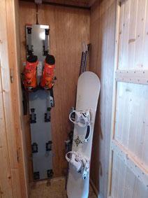 Placards à skis et sèche-chaussures