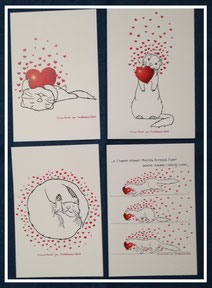 Cartolina FM Love ferrets 4 varianti