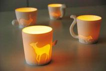 Porzellan Tassen, Design Tassen, Kaffeetasse Katze, Tasse Hase, Tasse Hund, Tasse Reh, Tasse Schaf,