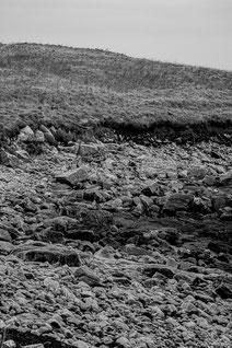 Plouguerneau littoral lande granit rochers dunes noir & blanc bretagne