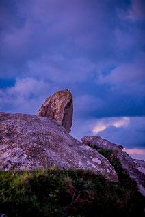 Plouguerneau Kastell Ac'h rocher au coucher de soleil