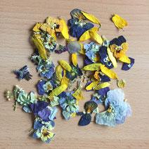 Getrocknete, essbare Blüten