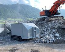 shredder shreder schredder schreder Steinbrecher Brecher Backenbrecher Zweiwellenbrecher zerkleinern Abbruch Recycling