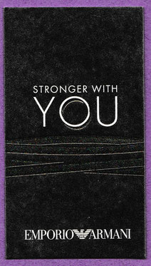 2017 - ARMANI YOU - STRONGER WITH YOU