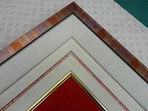 溝部分に柄のついた紙を使用
