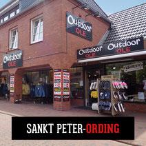 Store Outdoor OLE Sankt Peter-Ording Eingang Kleidung Bekleidung