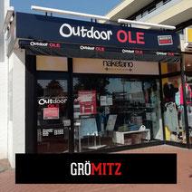 Store Outdoor OLE Grömitz Eingang Kleidung Bekleidung