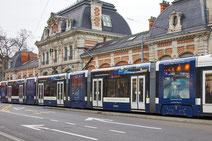 #Grafik #Werbung #Werbeagentur, Tramwerbung Bain Bleu Genf