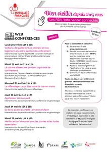 Programme des conférences - Cliquer pour agrandir