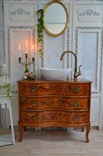 Waschkommode Antik-Holz