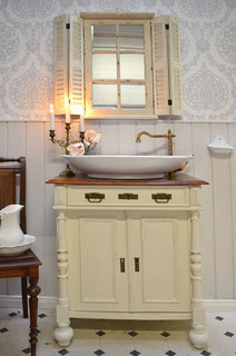 Waschtisch antik in creme-weiß