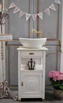 Vintage-Waschtisch in weiß