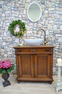 Waschkommode Holz im Antik-Look