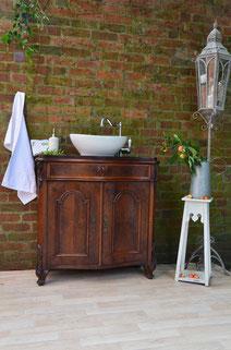 Antiker Echtholz-Waschtisch
